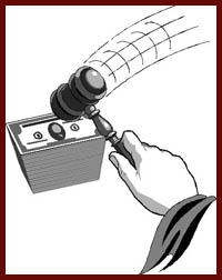 How is the Overbid Amount Established by the Court at the Sale of Real Property?